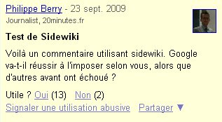 sidewiki-commentaire